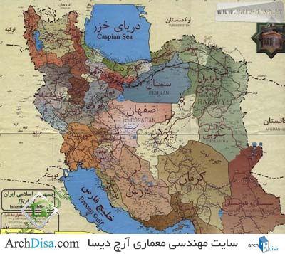 فایل اتوکد نقشه ایران