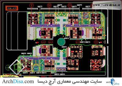 سایت پلان مجتمع مسکونی پارسیان