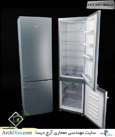 آبجکت یخچال V-ray
