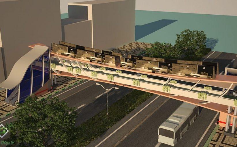 طراحی پل عابر پیاده ۱