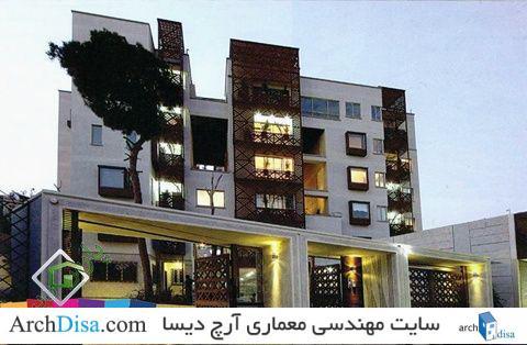 معماری مجتمع مسکونی باغ ونک تهران