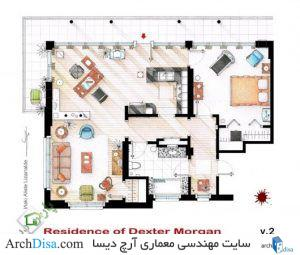 ۵۴۰۷۷۰c9c07a8070e4000012_from-friends-to-frasier-13-famous-tv-shows-rendered-in-plan_floorplan_of_dexter_morgan_s_apartment_v_2_by_nikneuk-d5set20-530x450