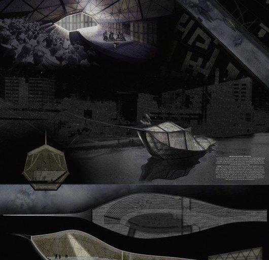 ۶ طرح پیروز مسابقه طراحی سالن تئاتر شناور آلمان