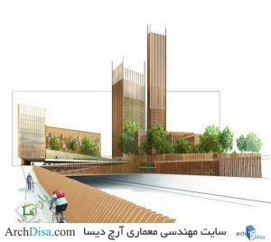 ۵۵۶cb66ee58ece956600001a_mga-proposes-world-s-tallest-wood-building-in-paris_mga_paris_wood_bike_ramp_vignette_lowres-530x473