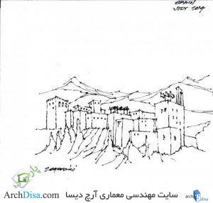 ۵۵۷۱d698e58ece23c80000dc_17-napkin-sketches-by-famous-architects_len_zegarski_1-530x506