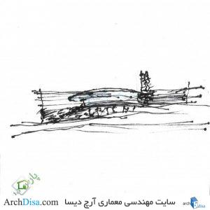 ۵۵۷۱d6d0e58ece3e7b0000d8_17-napkin-sketches-by-famous-architects_peter_bohlin_1-530x528