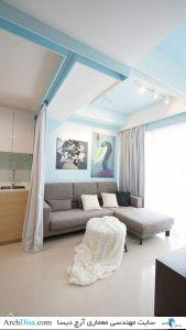 Tiny-apartment-Singapore-living-area