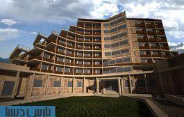 طرح معماری پلان کامل هتل ۴ ستاره به همراه رندرهای سه بعدی
