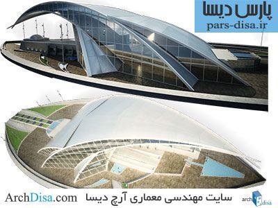 طراحی معماری پلان موزه به همراه رندرهای سه بعدی
