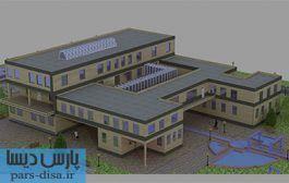 طرح معماری نقشه های کامل خانه سالمندان به همراه رندرهای سه بعدی