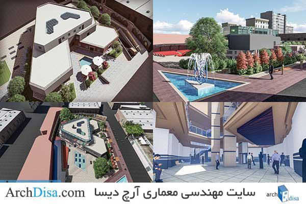 طراحی معماری پلان دانشکده فنی به همراه رندرهای سه بعدی