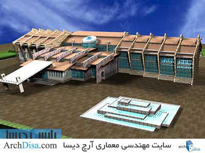طراحی معماری پلان هتل ۳ ستاره به همراه رندرهای سه بعدی