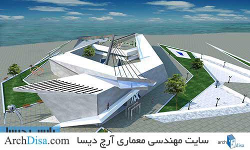 طراحی معماری پلان موزه هنر صنایع دستی به همراه رندرهای سه بعدی