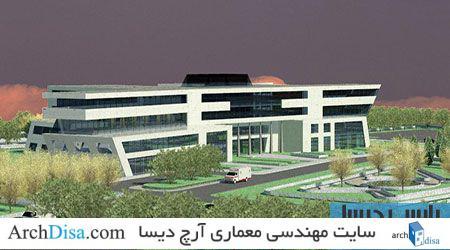 طراحی معماری پلان بیمارستان به همراه رندرهای سه بعدی