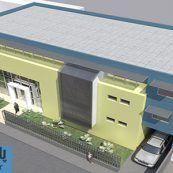 طراحی معماری پلان کامل سالن شهری به همراه رندرهای سه بعدی