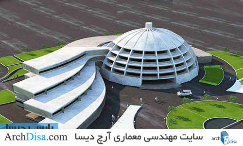 طراحی معماری پلان هتل دایره ای شکل به همراه رندرهای سه بعدی