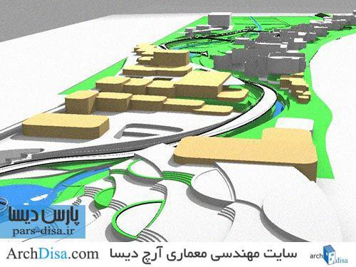 رساله ارشد معماری طراحی محله ی طبیعت دوست در شیراز