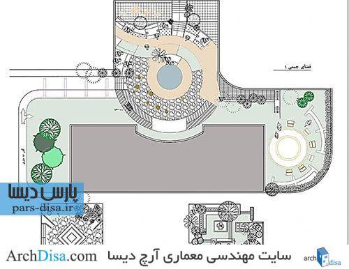 رساله ارشد معماری طراحی مسکن پایدار با تأکید بر فضای باز و نیمه باز