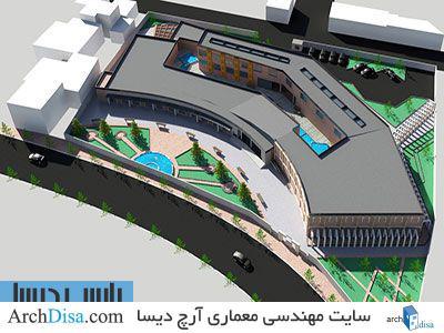 طراحی معماری پلان موزه مردم شناسی به همراه رندرهای سه بعدی