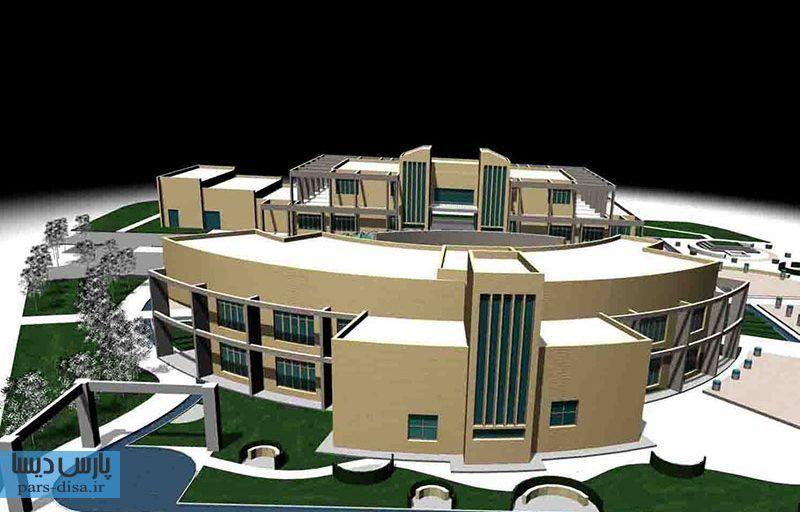 رساله ارشد معماری طراحی فرهنگسرای گرافیک با رویکرد معماری سبز