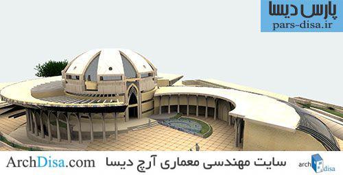 طراحی معماری مسجد شامل رساله ، پلان ،ماکت ،اتود ، رندر و پوستر و پاورپوینت