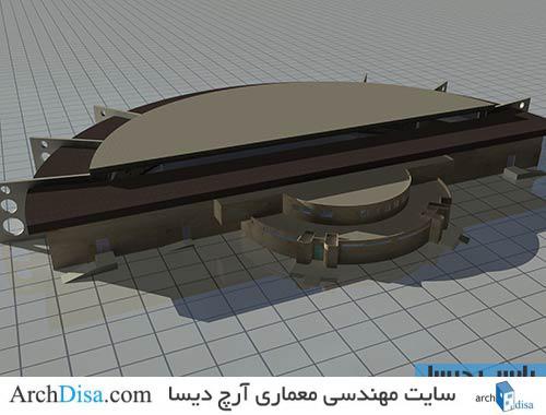 طراحی معماری استخر سرپوشیده شامل پلان ، ۳ds Max ، رندر و پوستر PSD