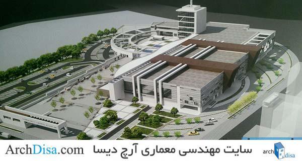 طراحی معماری تئاتر شهر شامل رساله ، پلان ، رندر و پوستر PSD