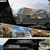 طرح نهایی هتل به همراه فایل سه بعدی Revit و پوستر های حرفه ای