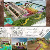 پروژه معماری خانه کودک با رویکرد خلاقیت شامل رساله ، پلان ،رندر و پوستر