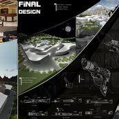 پروژه معماری خانه موسیقی شامل پلان ، رساله ، رندر و شیت بندی