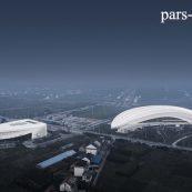 نمونه موردی مجموعه ورزشی Rudong شامل تصاویر و نقشه ها