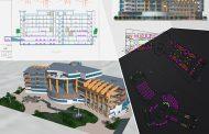 پروژه هتل ۴ ستاره شامل پلان ، رندرهای سه بعدی و پوستر PSD