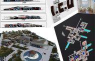 پروژه بیمارستان مغز و اعصاب ، پلان ،سه بعدی Revit ، پوستر PSD