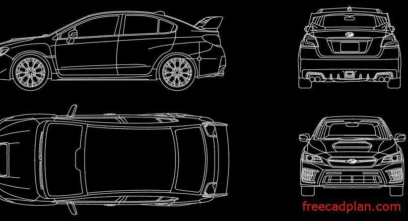 دانلود بلوک اتوکد ماشین Subaru ، به صورت فایل Dwg